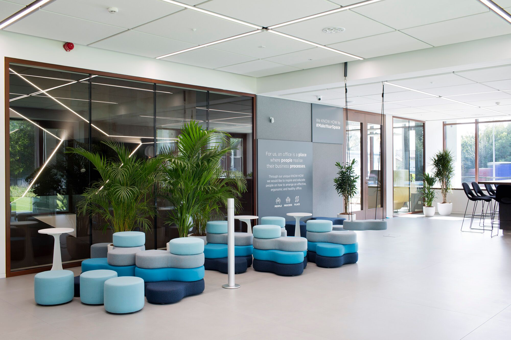 ... Carefully Selected For The Office Inspiration Centre, Are Put In Pots  And Arranged In The Form Of Vertical Gardens With An Automatic Irrigation  System.